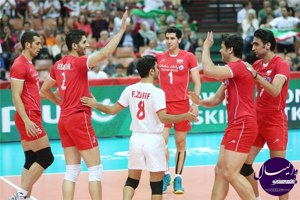 گزارش تصویری دیدار تیم ملی والیبال ایران و فرانسه /قسمت سوم !