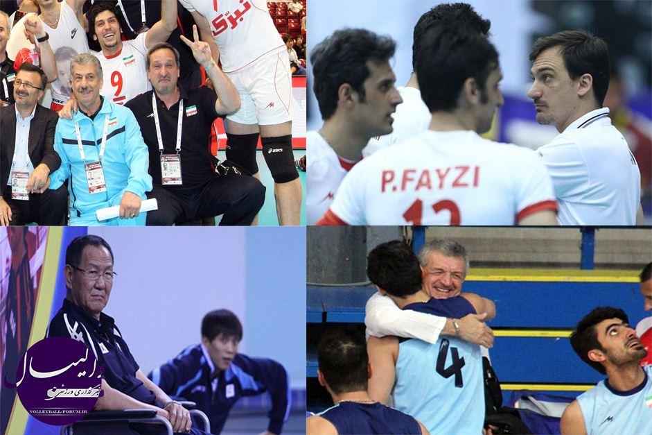 مربیان سابق تیم ملی؛ رقبای امروز مردان والیبال ایران در اینچئون !