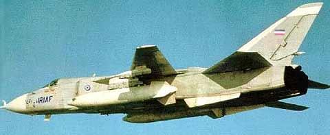 هواپیمای Su-24 متعلق به نیروی هوایی جمهوری اسلامی ایران