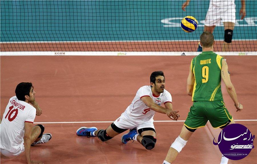 گزارش تصویری دیدار تیم ملی والیبال ایران و استرالیا/قسمت اول !