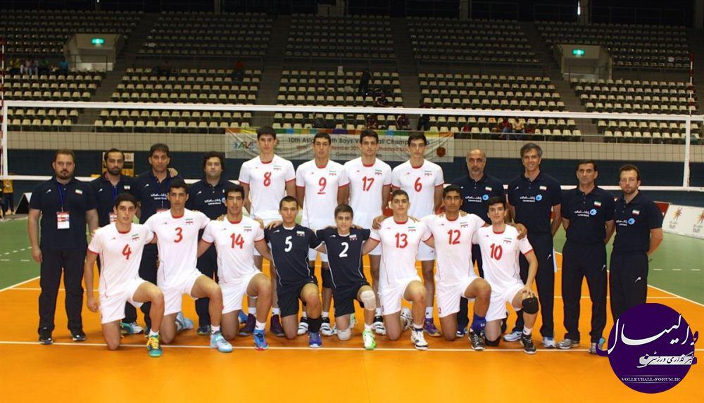 آینده سازان والیبال ایران بر بام آسیا !