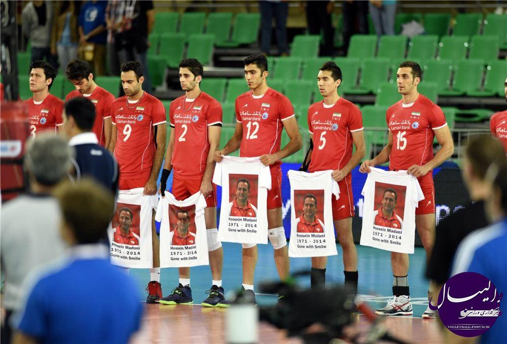 تصویر : یک دقیقه سکوت به یاد معدنی در دیدار ایران و آرژانتین !