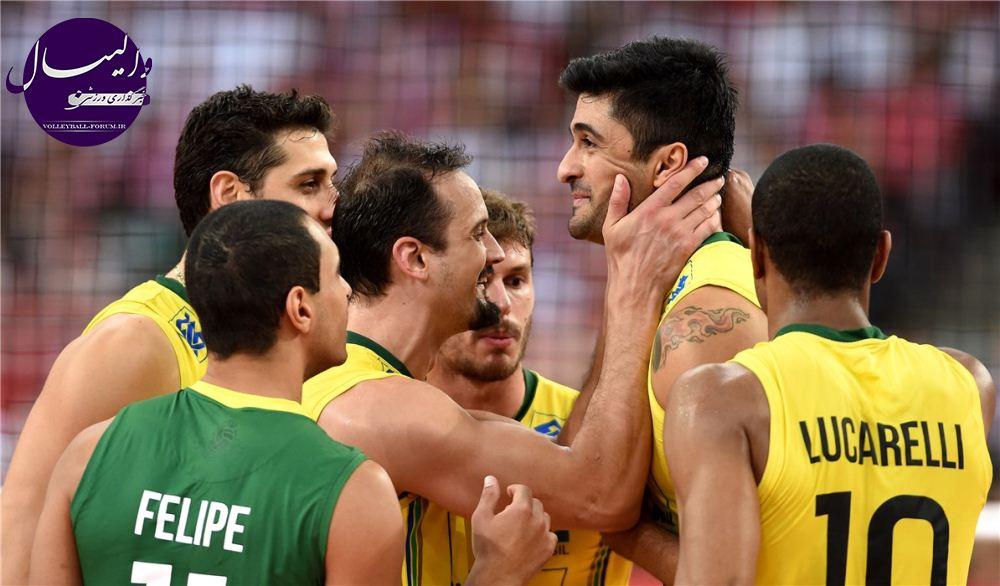 مصدومیت سه بازیکن اصلی تیم ملی والیبال برزیل !