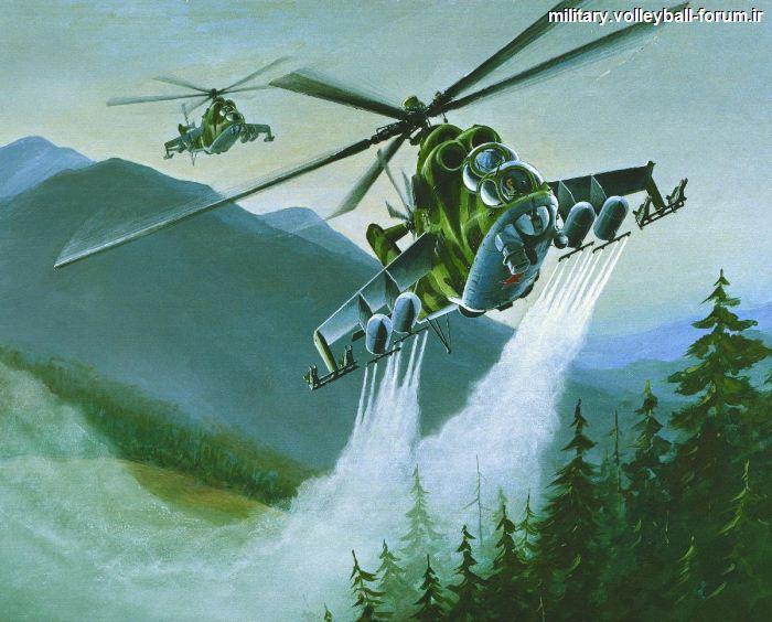 آشنایی با هلیکوپتر رزمی MI-24 Hind یا ارابه شیطان !!