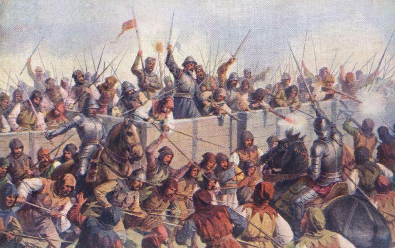 کاربرد گاری زرهپوش در نبرد های اروپا