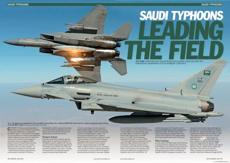 معرفی جنگنده های Eurofighter Thyphoon نیروی هوایی عربستان